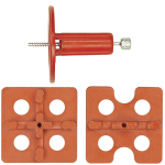 universal 3mm cross and edge spacing plates with spindle