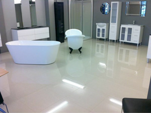 Highlighting seamless reflections on beautifully installed ceramic tiles using the ATR Leveling system