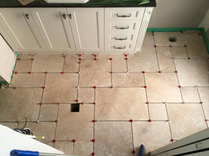Offset tile pattern so easy to bring about with ATR's T spacing plate