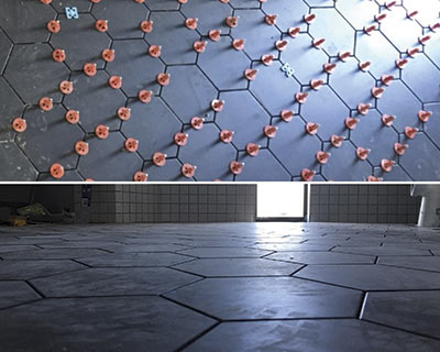 hexagonal floor tile ATR Tile Leveling