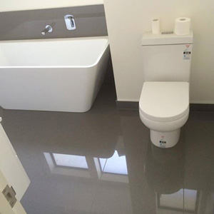 High gloss ceramic tiles installed using the ATR Tile Leveling system look fantastic with no lippage
