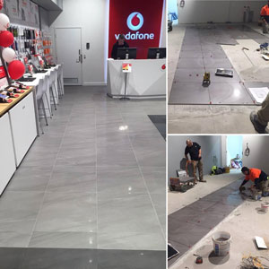 600x600 porcelain tile working with our ATR Tile Leveling System.